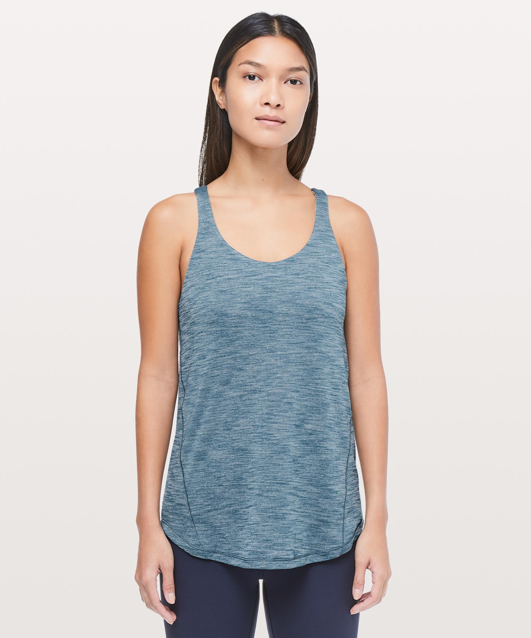 Lyst Lululemon Athletica Moment To Movement 2 In 1 Tank Blue Rvca Circuit Tshirt Shortsleeve Boys39 Gallery