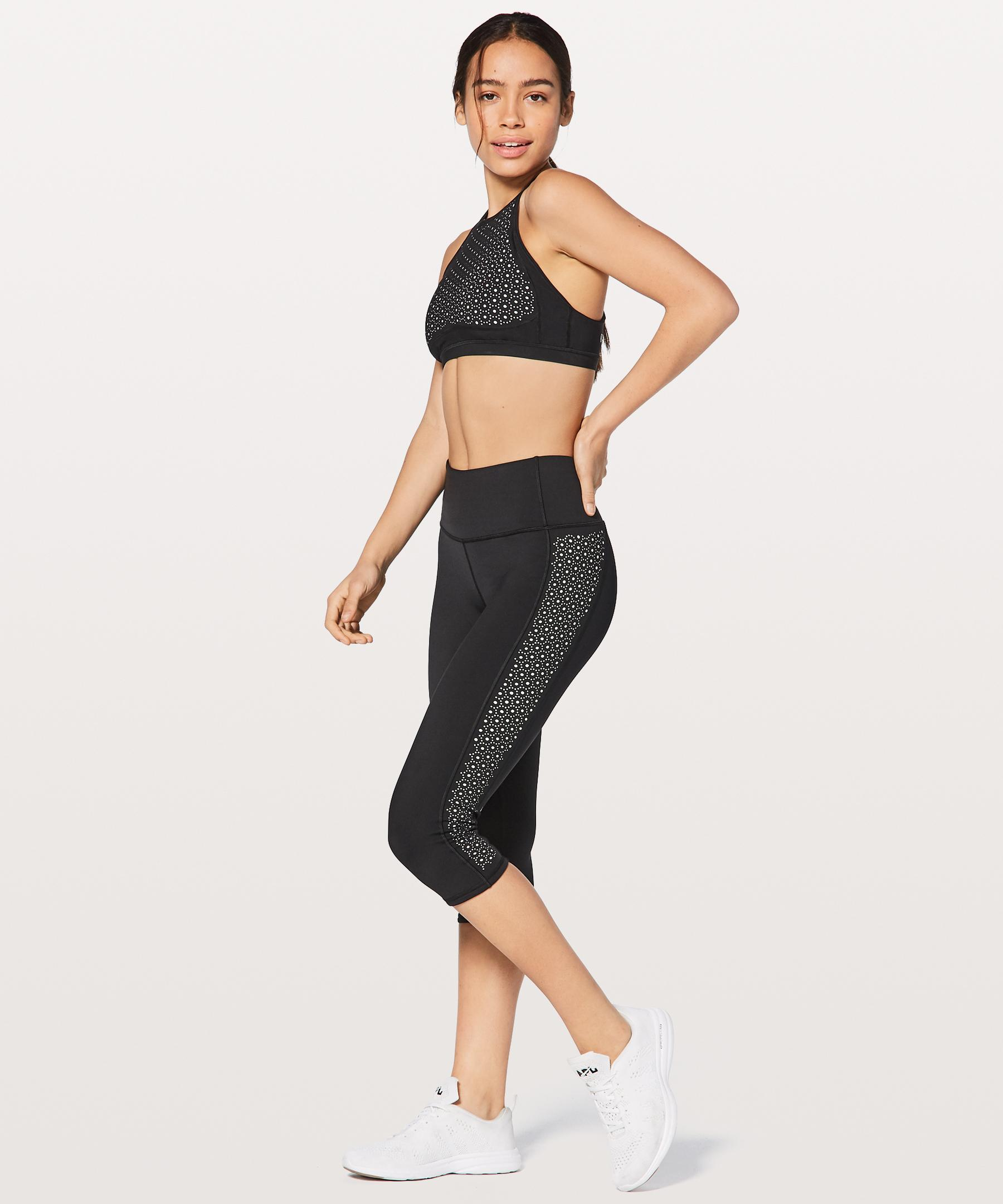 b6751fbe02625 lululemon athletica Colour Me Quick Crop in Black - Lyst