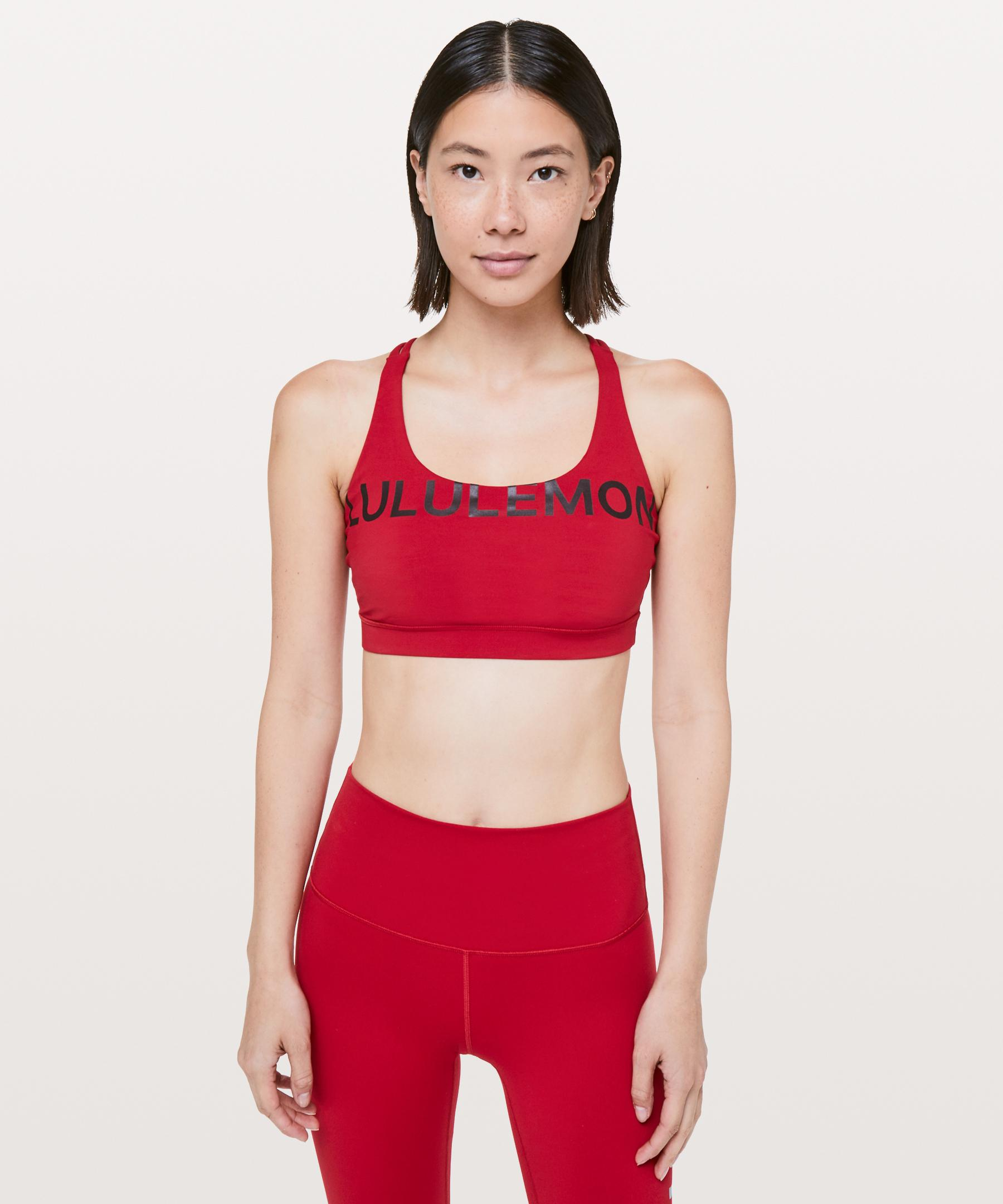 a2d859b3e9 Lyst - Lululemon Athletica Energy Bra 20th in Red