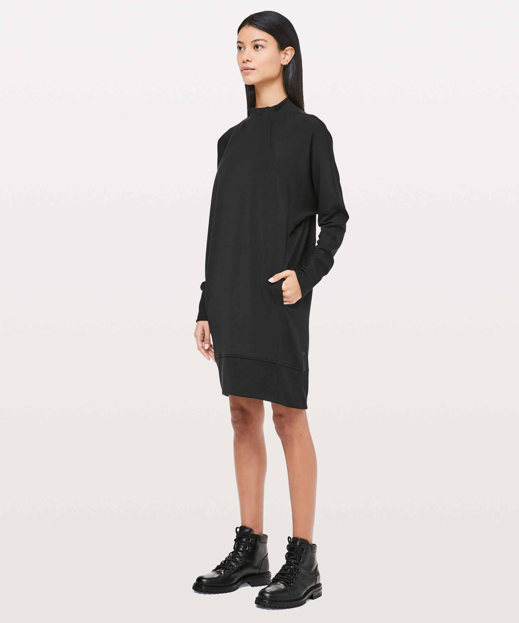 d7d700086d Lululemon Athletica Cozy Instincts Dress in Black - Lyst