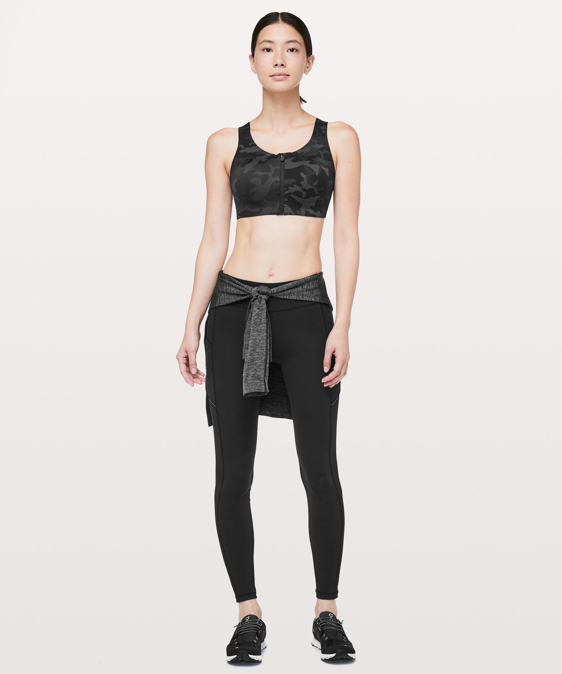 5add86c39f Lyst - lululemon athletica Enlite Bra  zip Front in Black