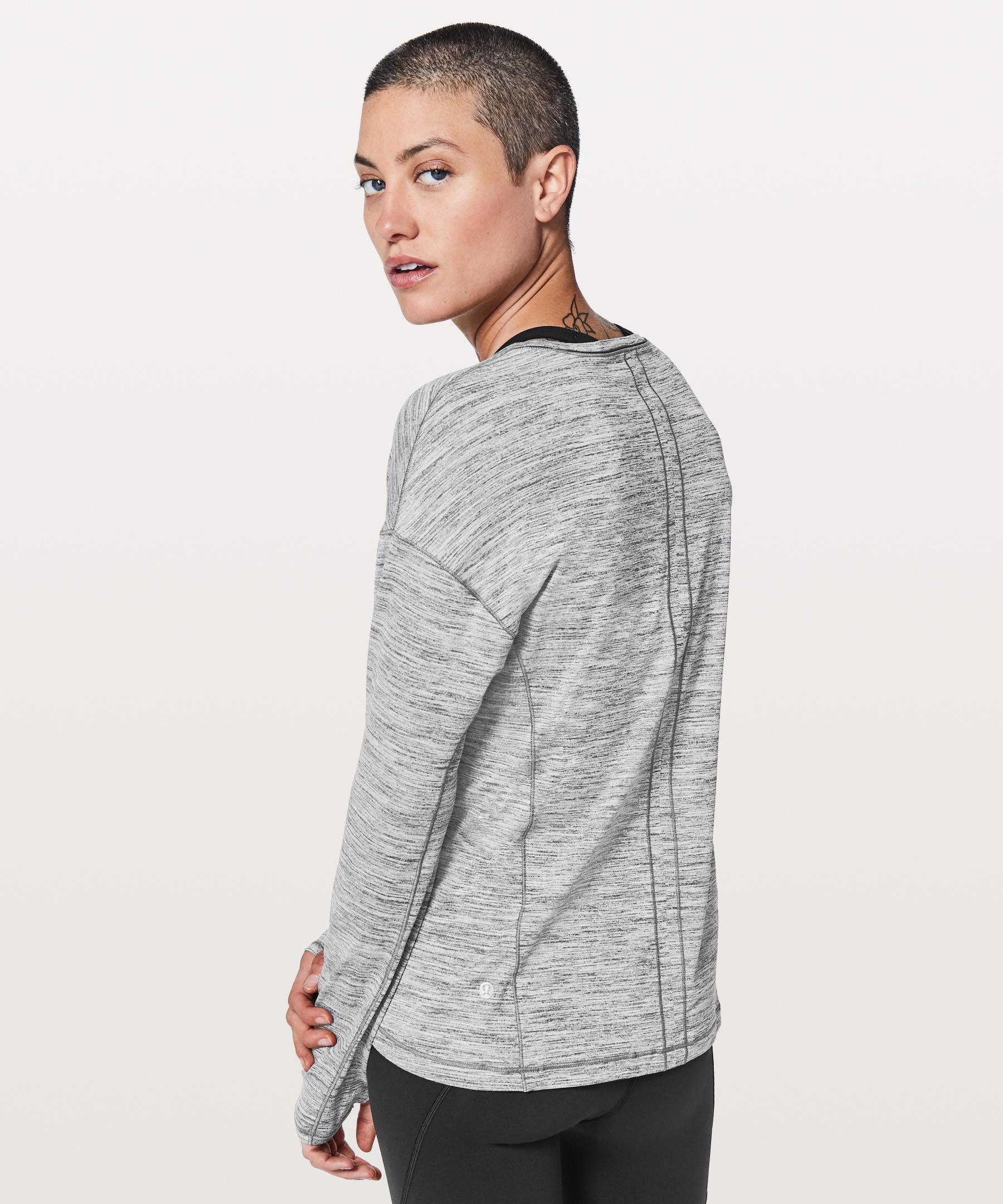b61e55217a lululemon athletica Sweat Embrace Long Sleeve in Gray - Lyst