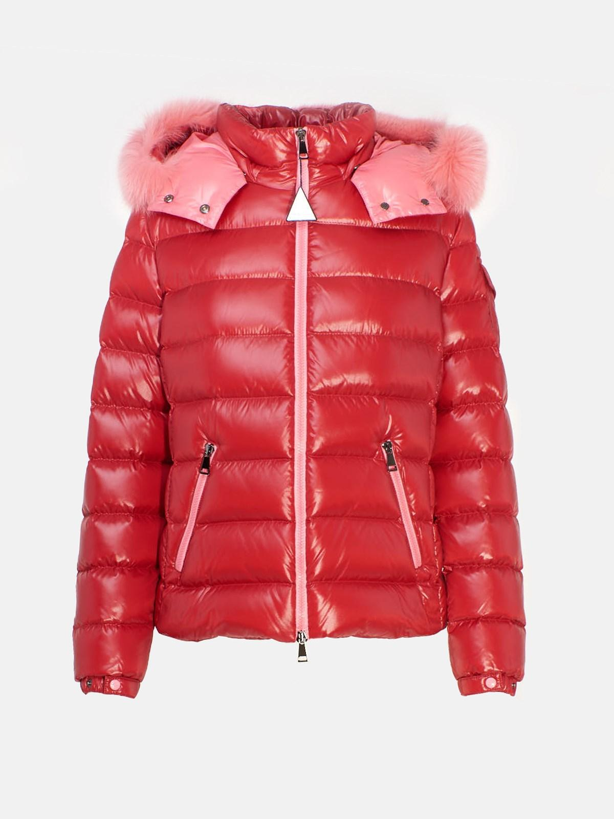 info for af571 a87fa Moncler Piumino Corto Badyfur Rosso in Red - Lyst