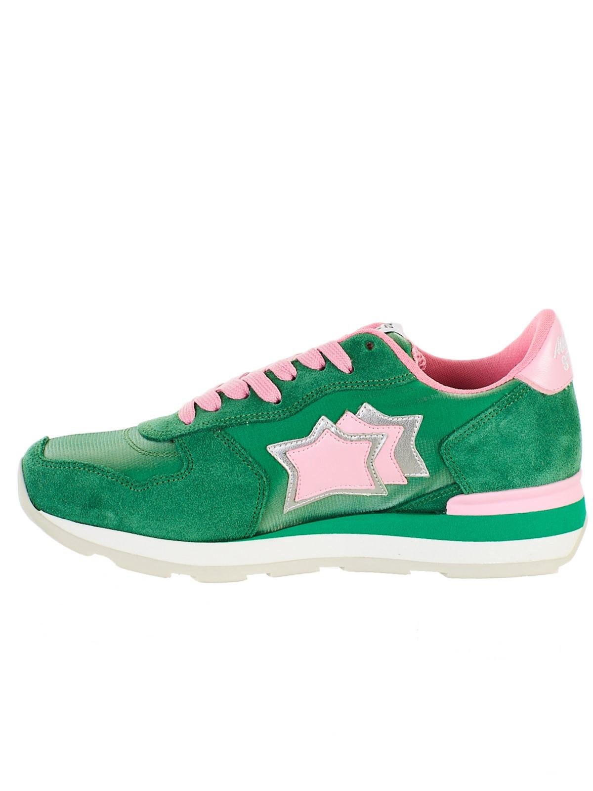 d9231a4789a281 Lyst - Atlantic Stars Star Patch Sneakers in Green - Save 20%
