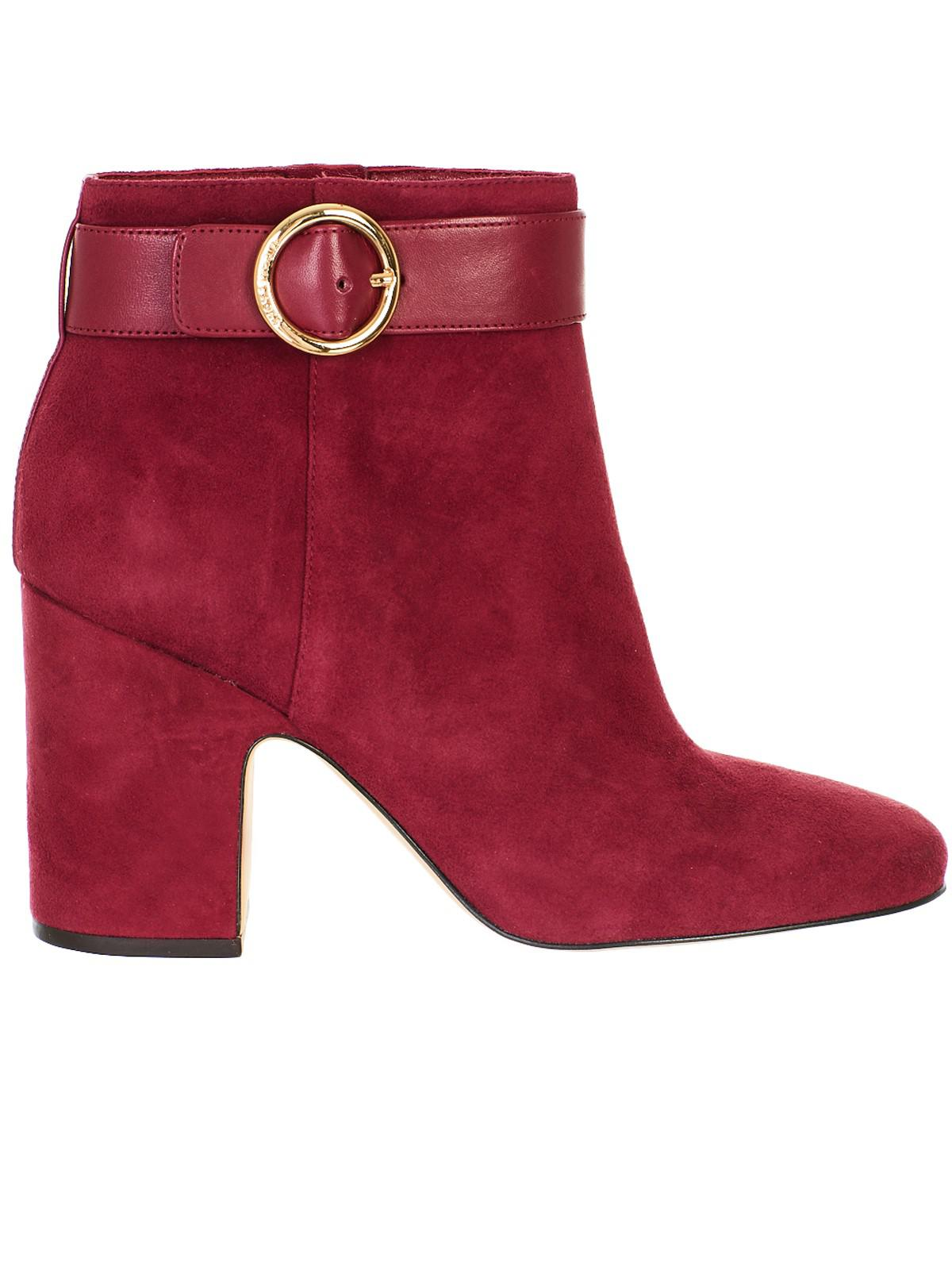 8047a7e3fc0dd Lyst - Michael Kors Wine Red Alana Ankle Boots in Red