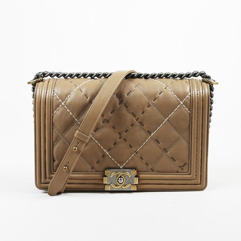 87467d44107 Chanel Brown Leather