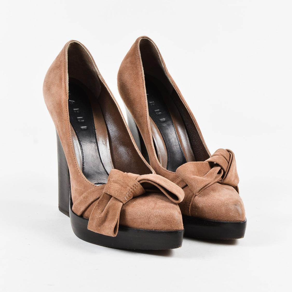 extremely cheap price classic online Marni Bow Suede pumps clearance get to buy 4ms2O1D