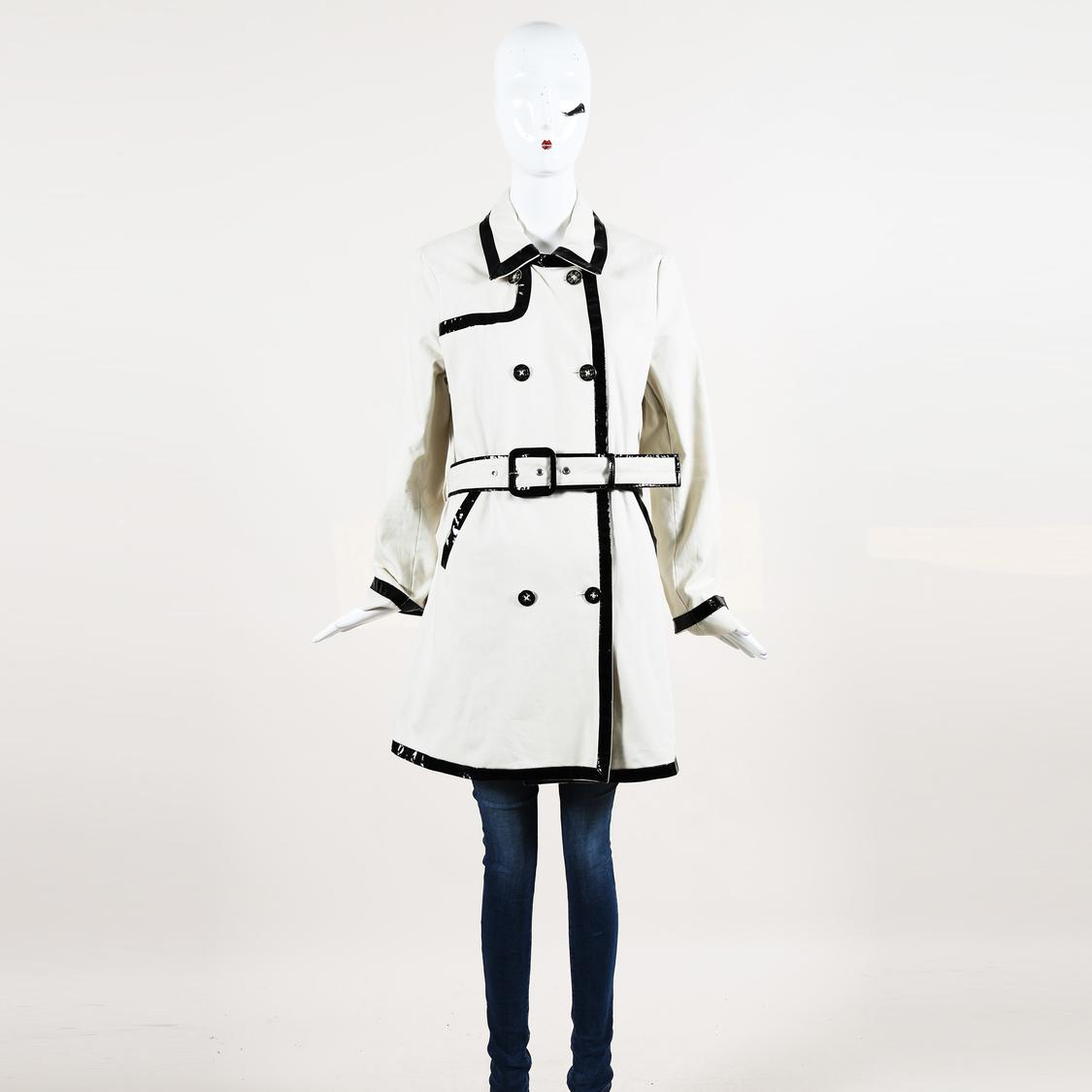 dfc7408fae9e Lyst - Tory Burch Cotton Double Breasted Trench Coat in Natural