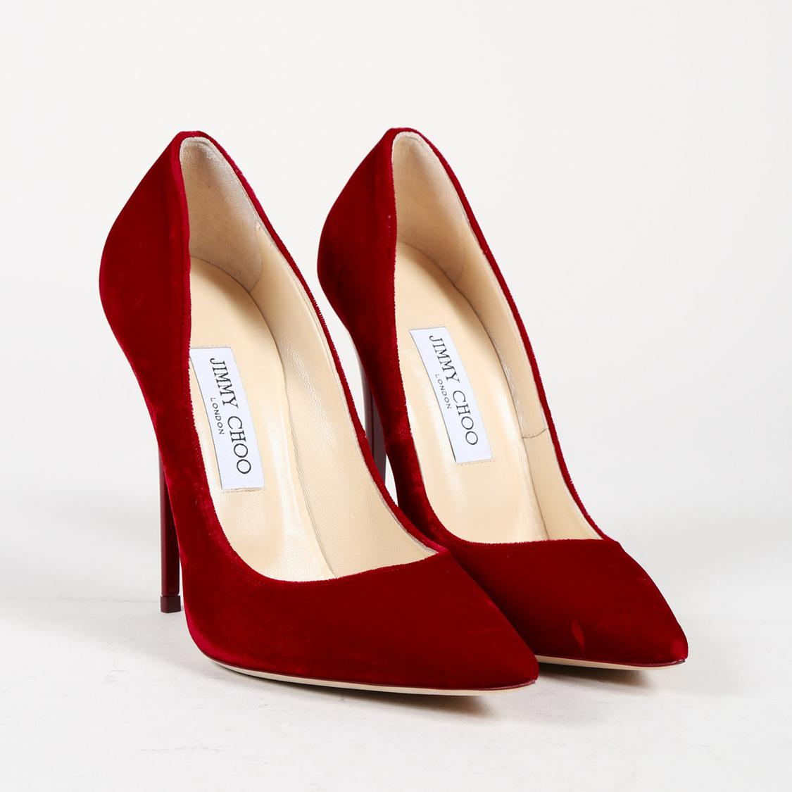 970e09c8e1ee Jimmy Choo Nwt Red Velvet