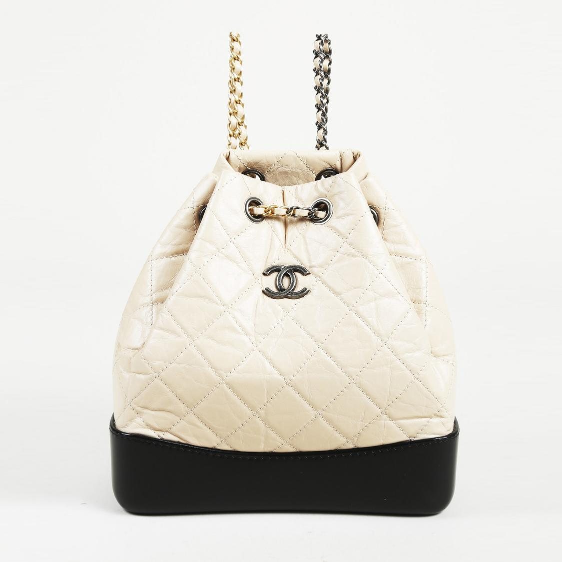 8371092d6c7e17 Chanel. Women's Small Gabrielle Quilted Backpack