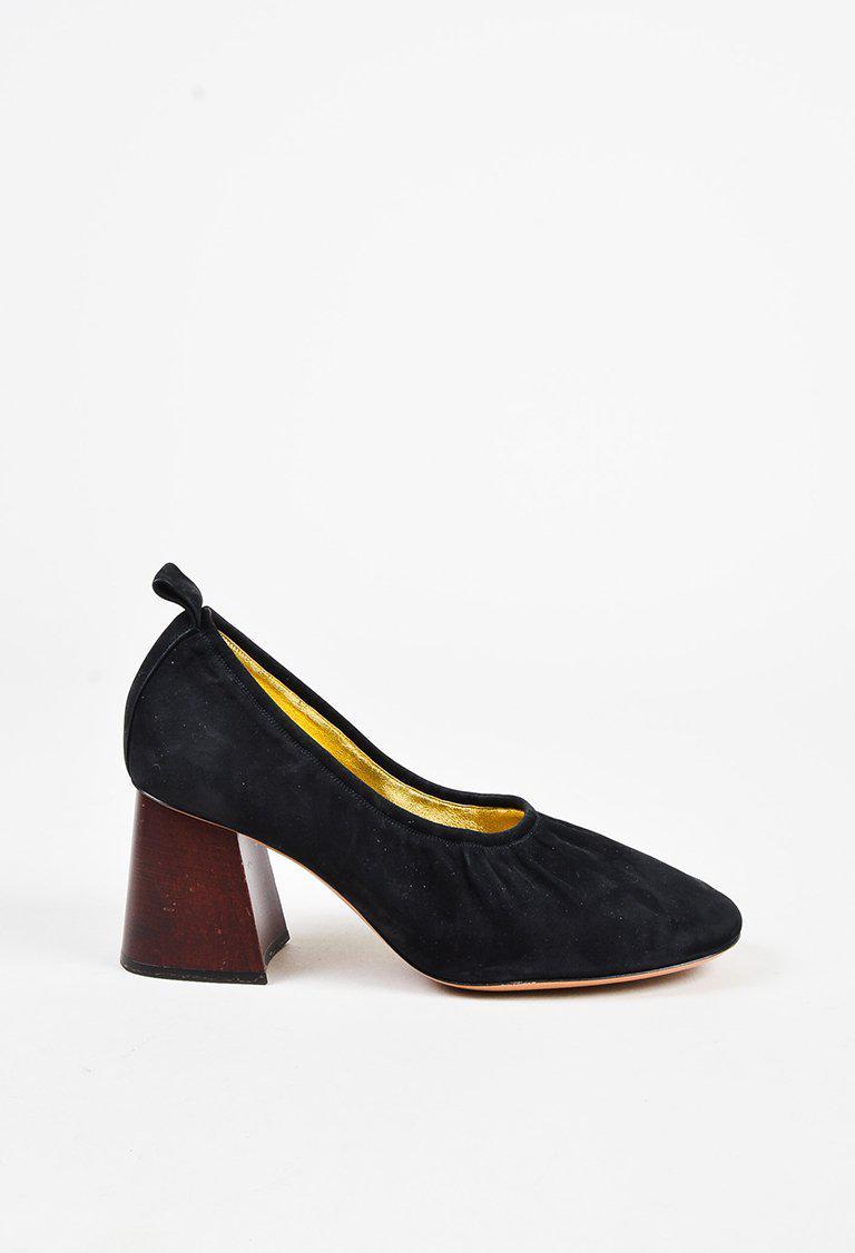 20c7558de50 Lyst - Céline Black Suede Brown Leather