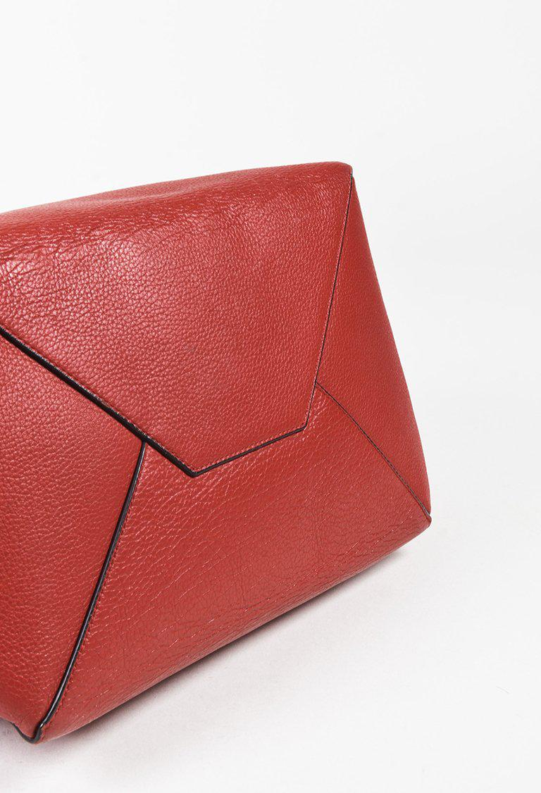 f60d79e2c8 Lyst - Céline Red Grained Leather