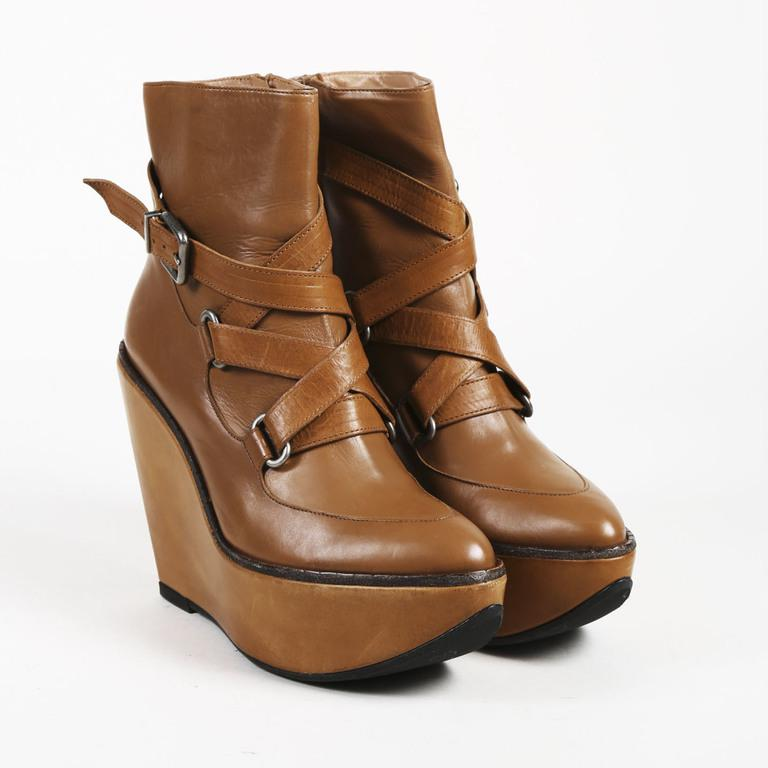 63872bf88382a Robert Clergerie Brown Leather