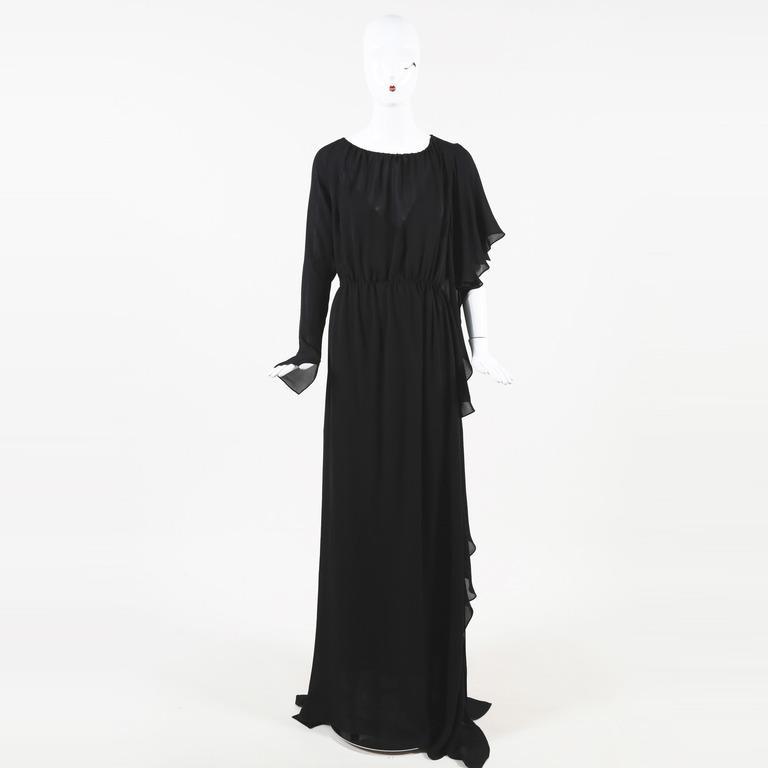 b3fb6af42363 Lyst - Juan Carlos Obando Gathered Asymmetric Gown in Black