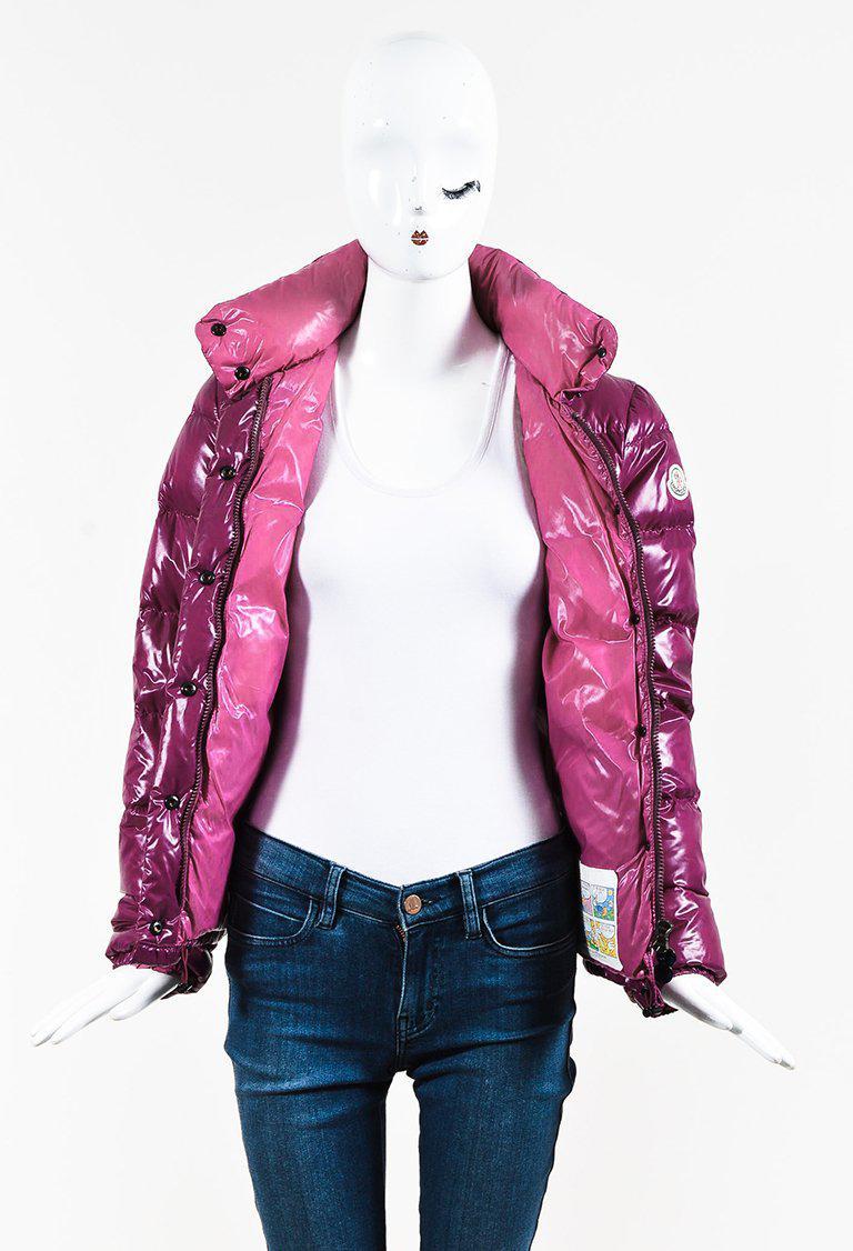 Moncler Purple   Pink Nylon Down