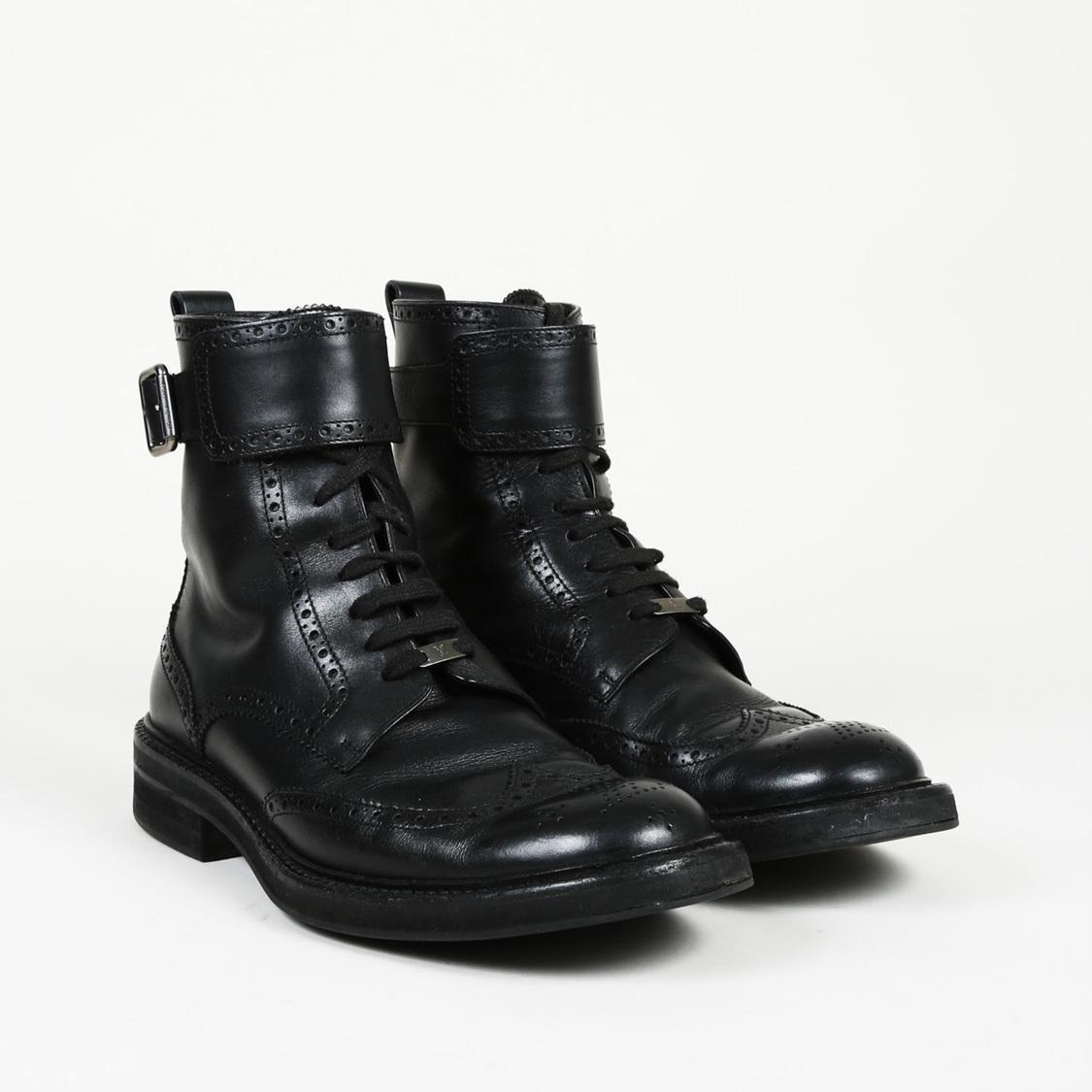 38f1da455294 Louis Vuitton Leather Brogue Ankle Boots Men s in Black for Men - Lyst