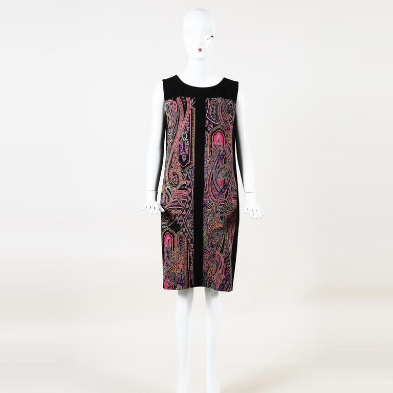buy popular ed70a 453b9 Lyst - Etro Paisley Wool Knee Length Dress in Red