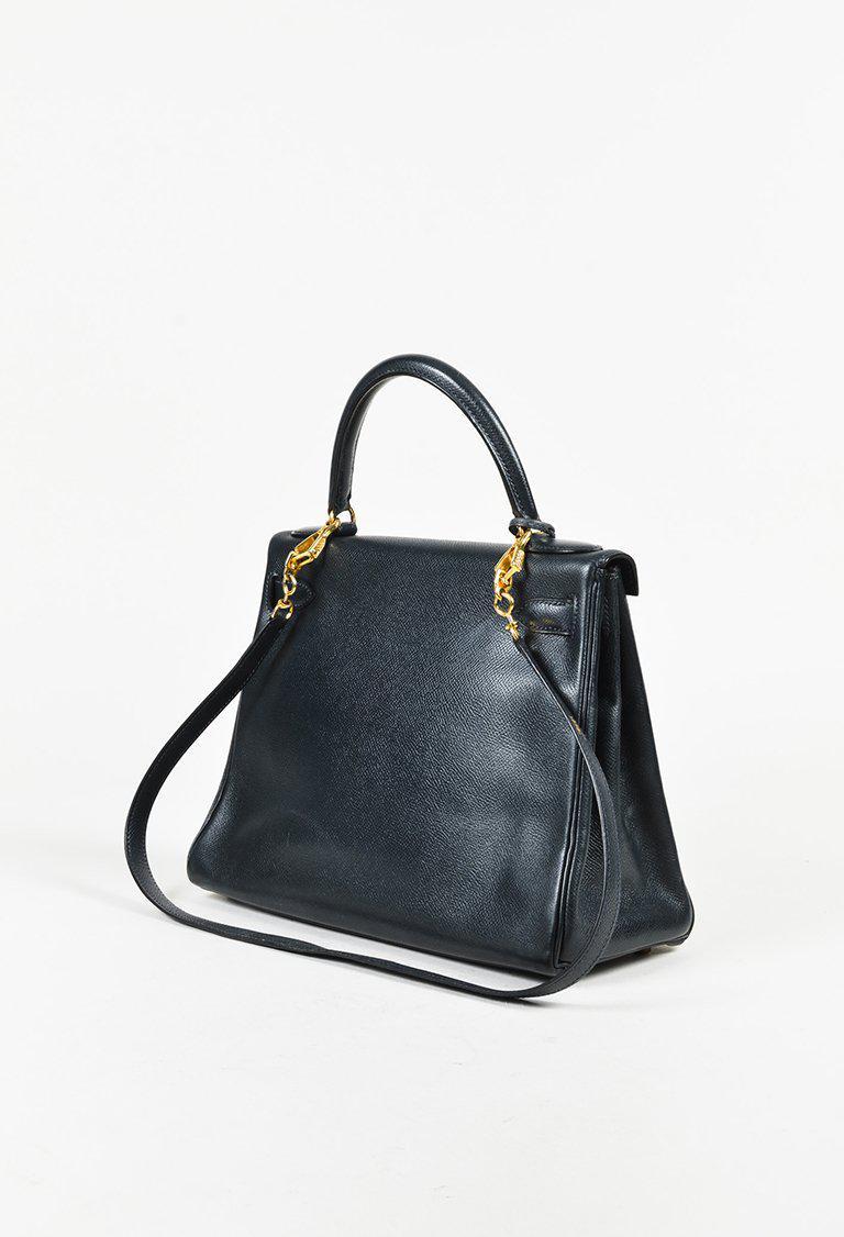 f1ec66939b ... coupon code for hermès vintage navy courchevel leather kelly retourne  28 bag in d757b 306d5