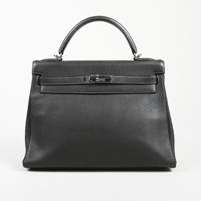 79f077b712 Lyst - Hermès Graphite Togo Leather