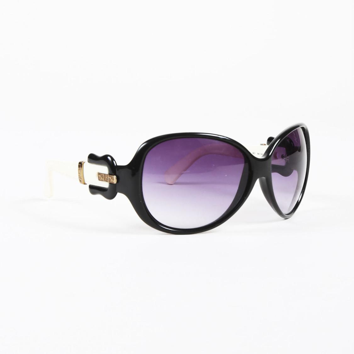 e2b46e574f28 Lyst - Fendi Black Cream & Purple