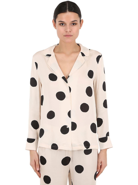 54a0a9aab4f4c LoveStories - Multicolor Polka Dot Satin Pajama Shirt - Lyst. View  fullscreen