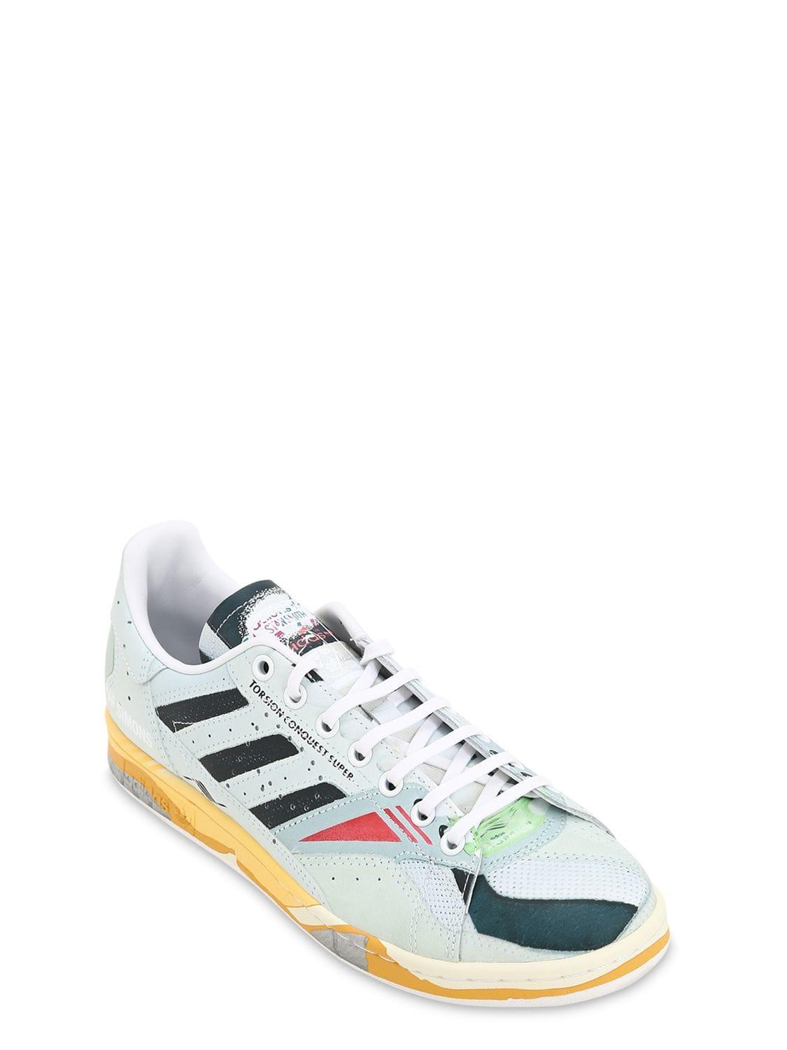 0da854ef1f403 Lyst - adidas By Raf Simons Rs Torsion Stan Leather   Suede Sneakers in  White for Men
