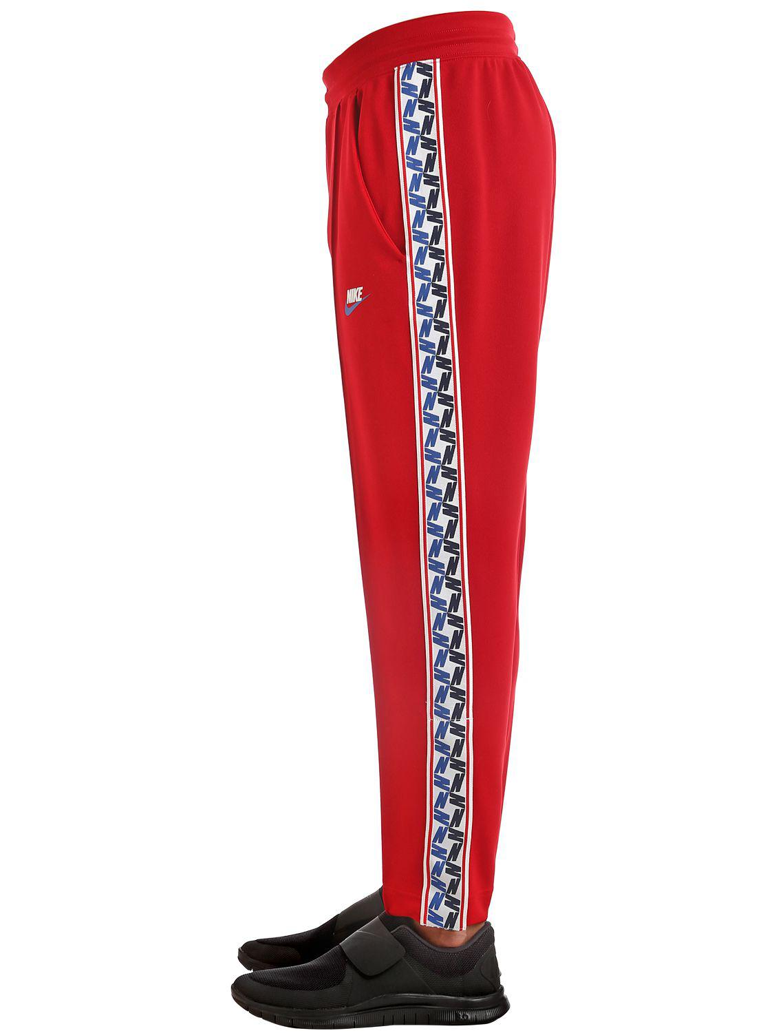43f20054685c Lyst - Nike Track Pants W  Side Bands in Red for Men
