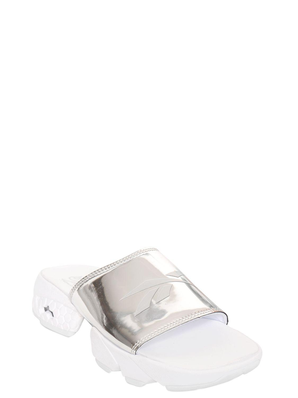 e57e6c64a8a57 Reebok Fury Magic Hour Metallic Leather Sandals in Metallic - Lyst