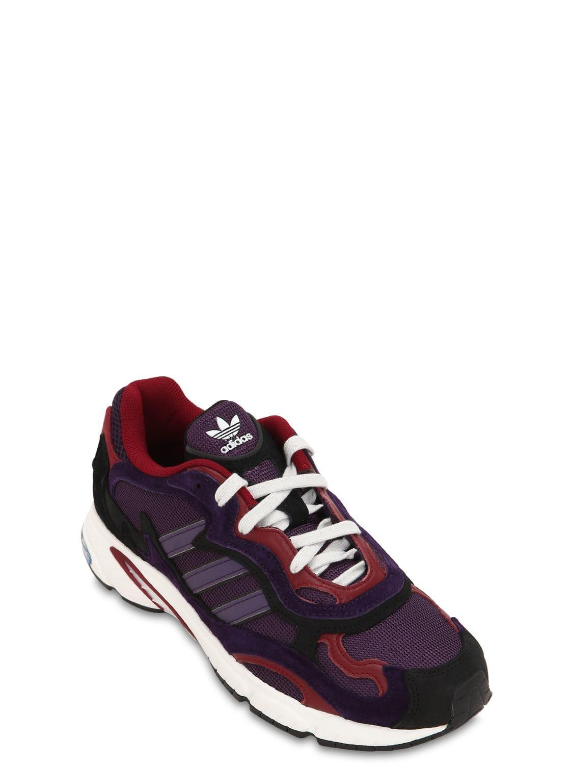 sneakers for cheap 74dc6 4e3a9 adidas Originals Temper Run Mesh   Suede Sneakers - Lyst