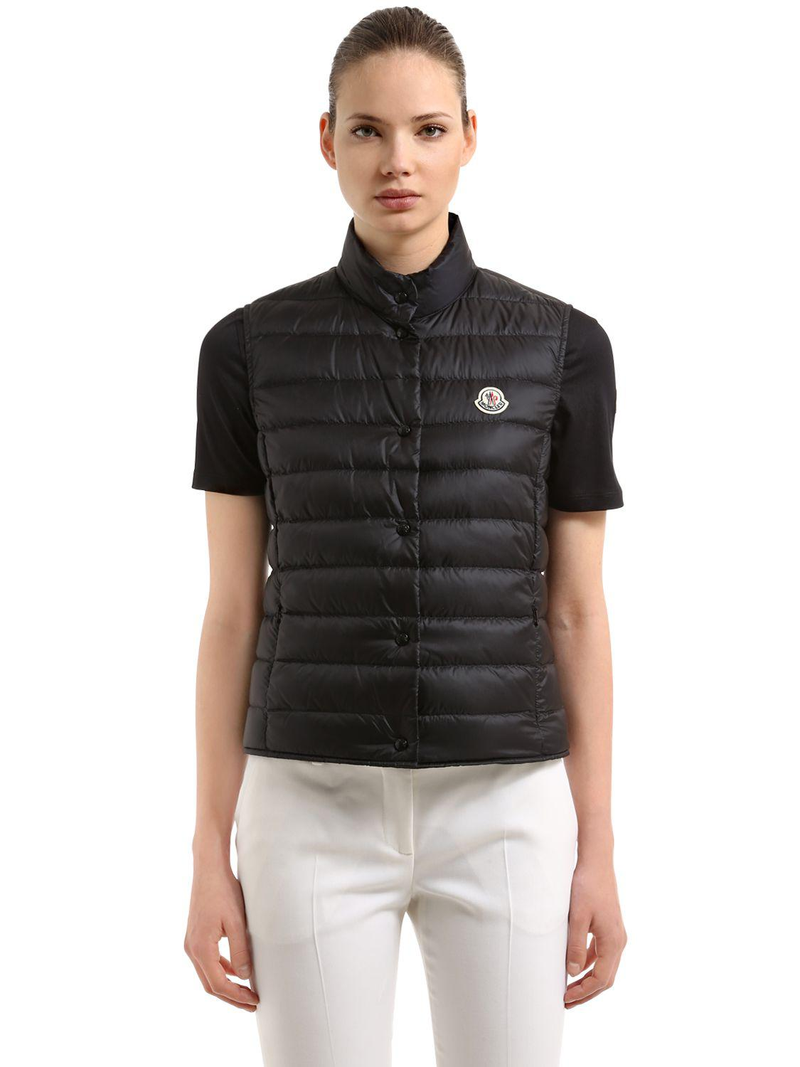 Lyst Moncler Liane Quilted Nylon Down Vest In Black