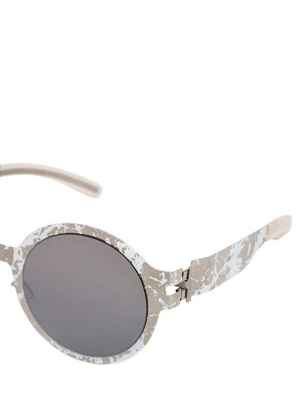f02d155afa4 Mykita - White Maison Margiela Hand-painted Sunglasses for Men - Lyst. View  fullscreen