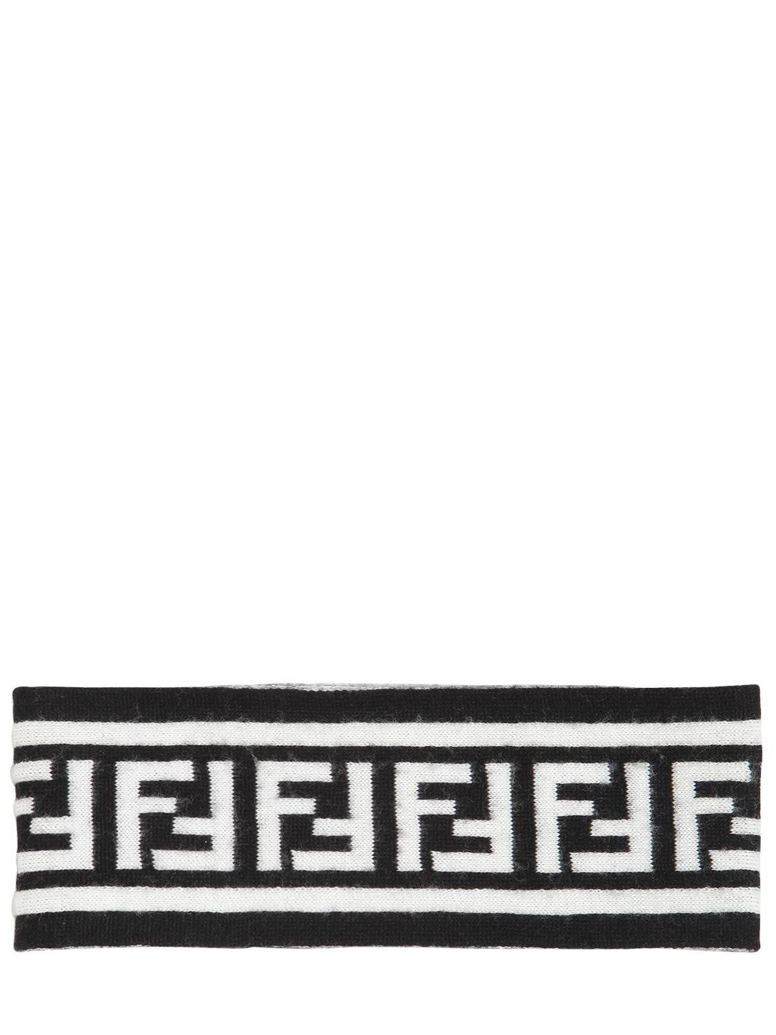 038dae53f2a1 Fendi Ff Motif Headband in Black for Men - Lyst