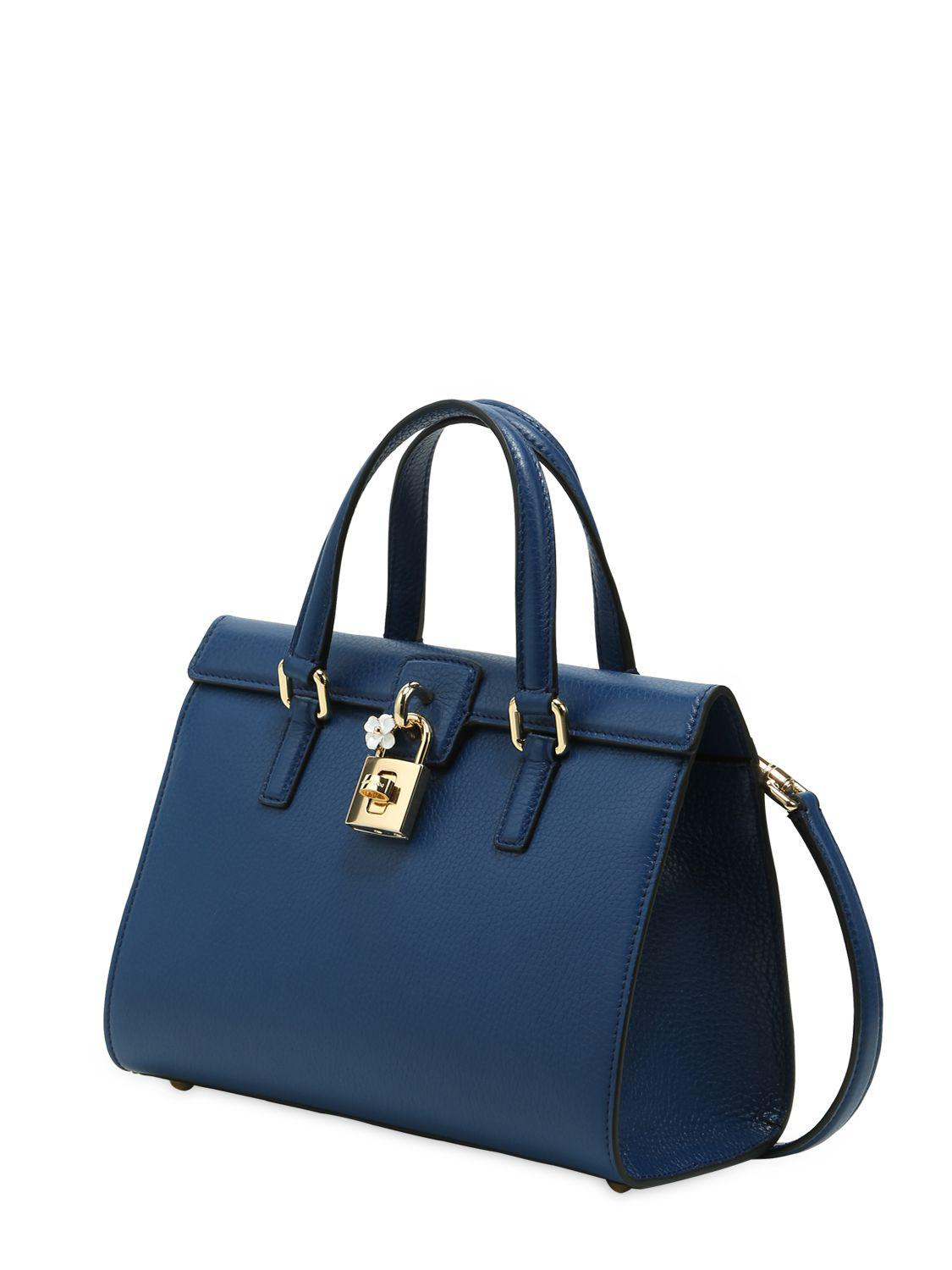 0a8072db9a Lyst - Dolce   Gabbana Dolce Lady Grained Leather Bag in Blue