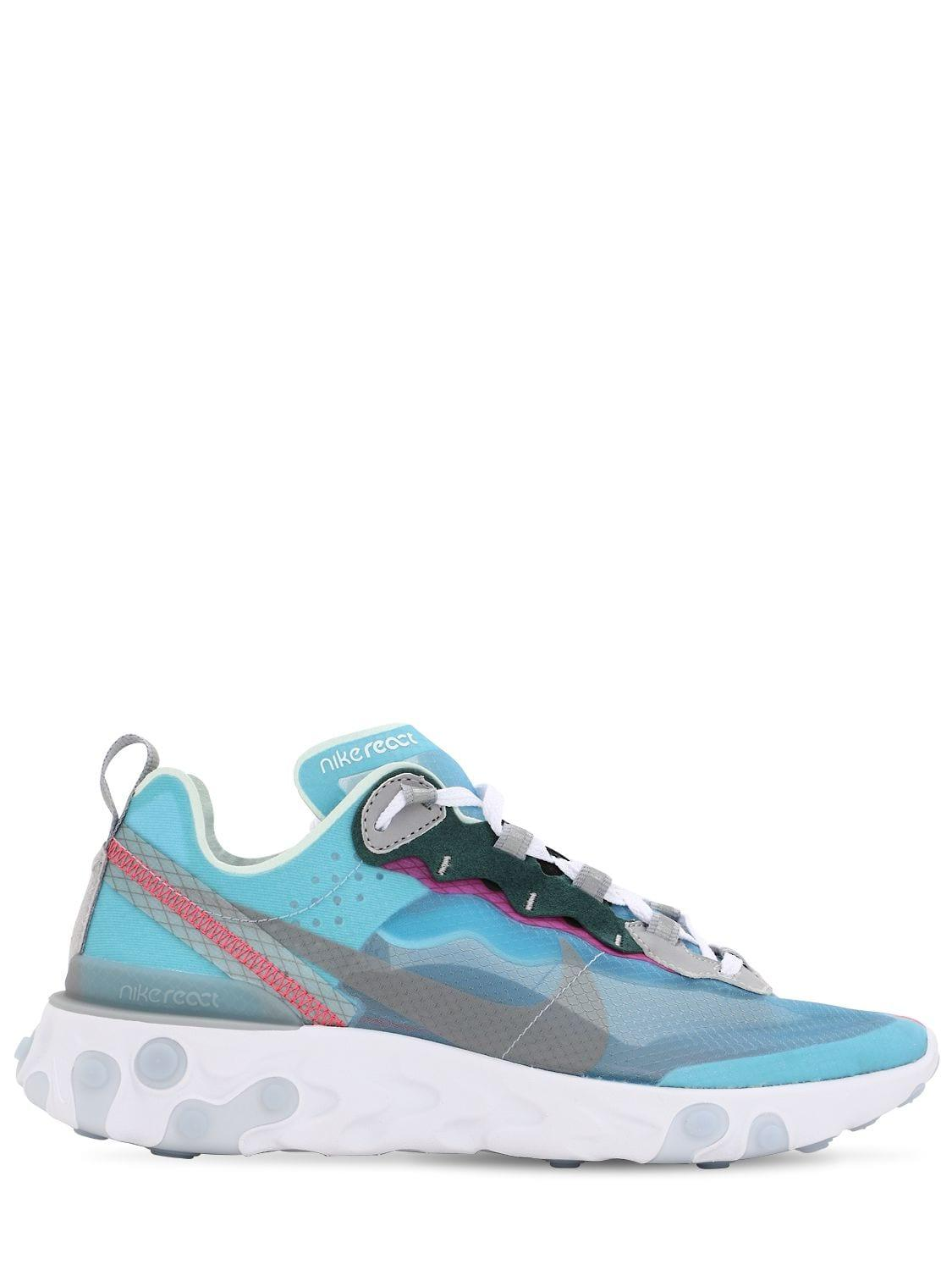 375be49c7bab Lyst - Nike React Element 87 Sneakers in Blue