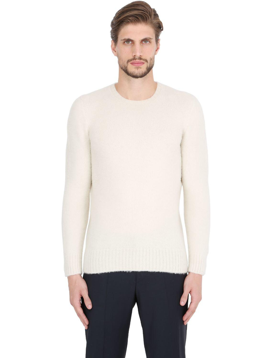 Lambswool Brushed Drumohr Sweater For Black Men In Lyst ZFxpwqx