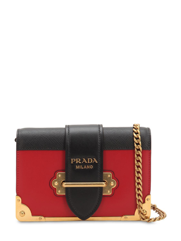 Prada. Women s Small Cahier Leather Shoulder Bag ac75efc8d45b9