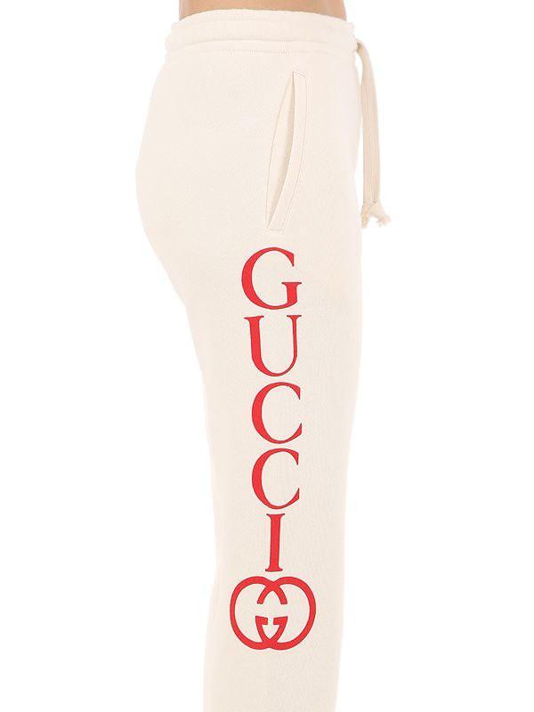 d9b8fb355195 Lyst - Gucci Logo Printed Track Pants