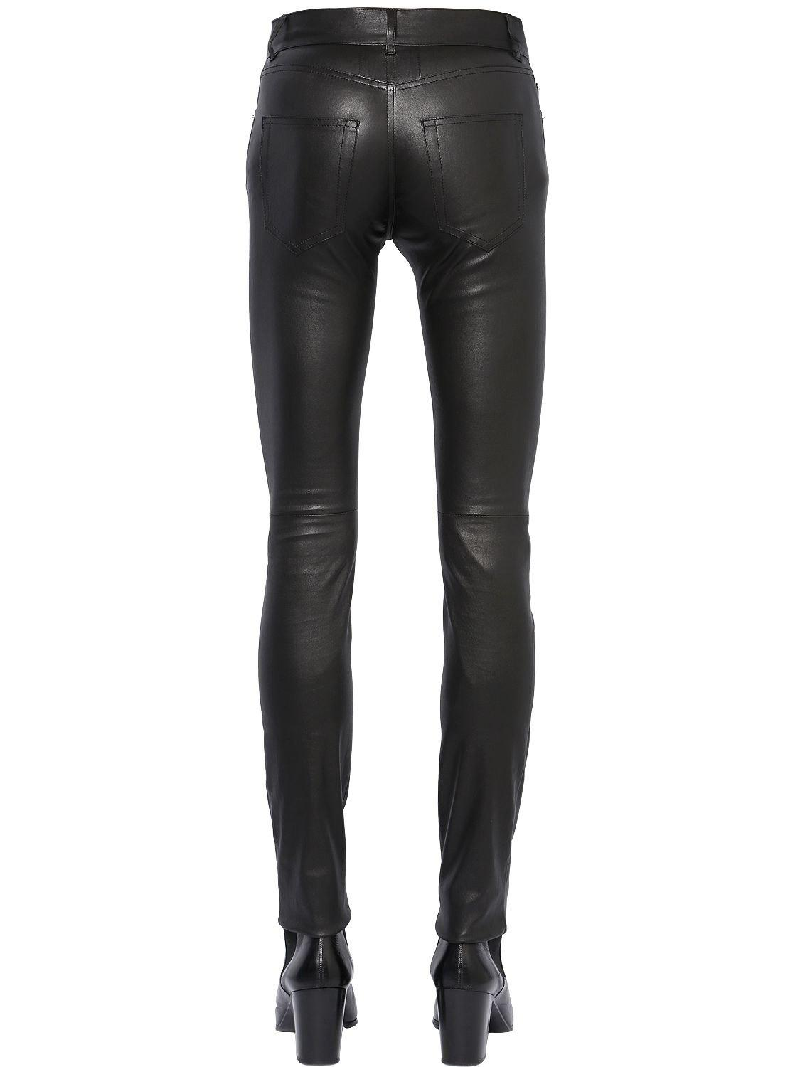 6cfcef024b4 Saint Laurent 15Cm Skinny Stretch Faux Leather Jeans in Black for ...