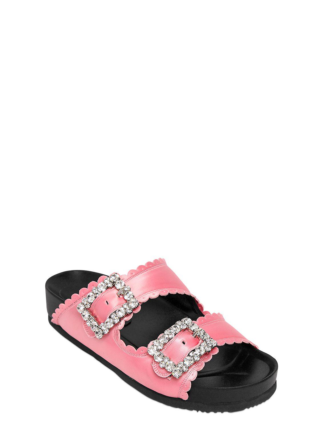 Looking For Sale Online Discount Huge Surprise SUECOMMA BONNIE 20MM EMBELLISHED SATIN SLIDE FLATS 5KgzI8J