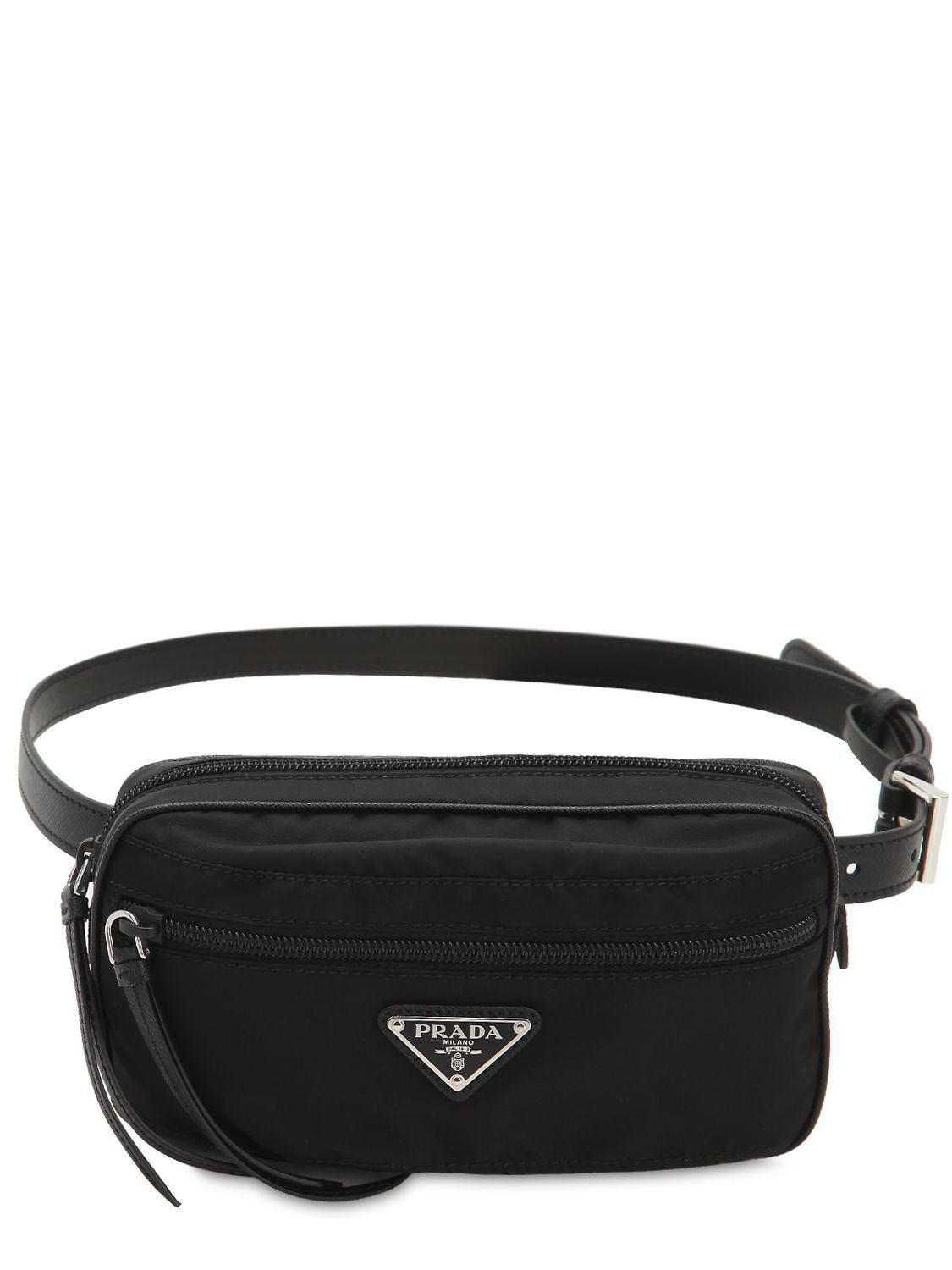 359b433a5047 Prada - Black Nylon Belt Bag - Lyst. View fullscreen