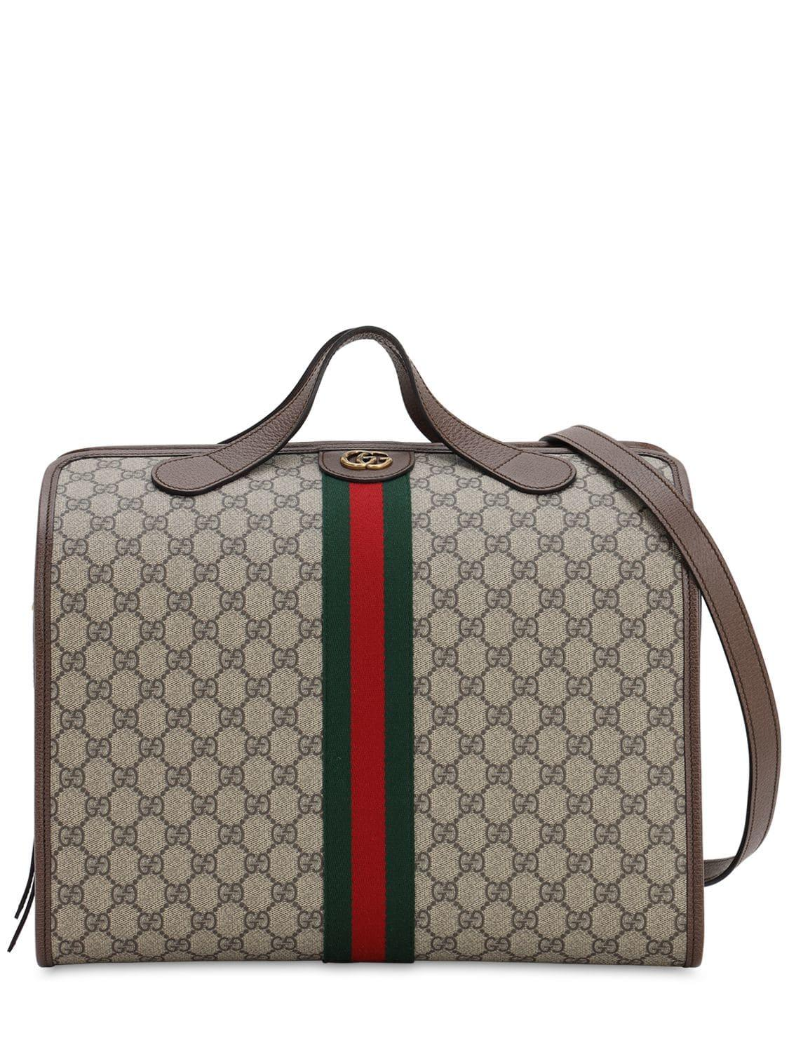 9a6a9109a498 Gucci Ophidia Gg Supreme Holdall for Men - Save 21% - Lyst