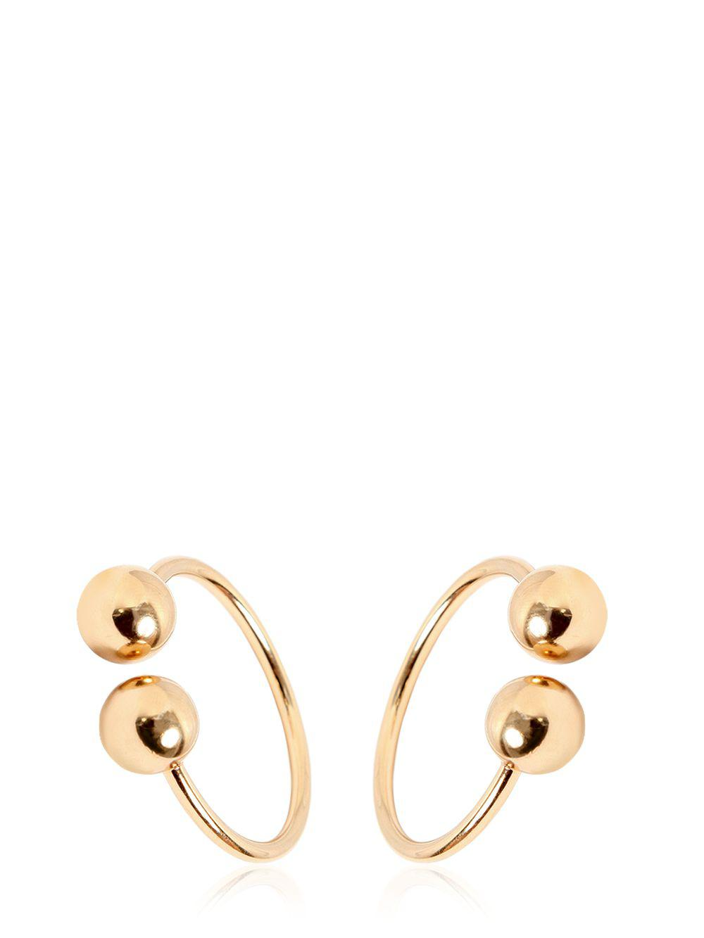 J.W.Anderson double earrings - Metallic 7Z7sDuIZcn