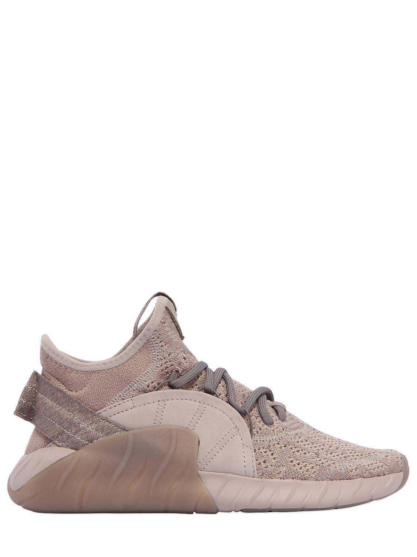 lyst adidas originali tubulare primeknit metà sopra le scarpe da ginnastica in aumento