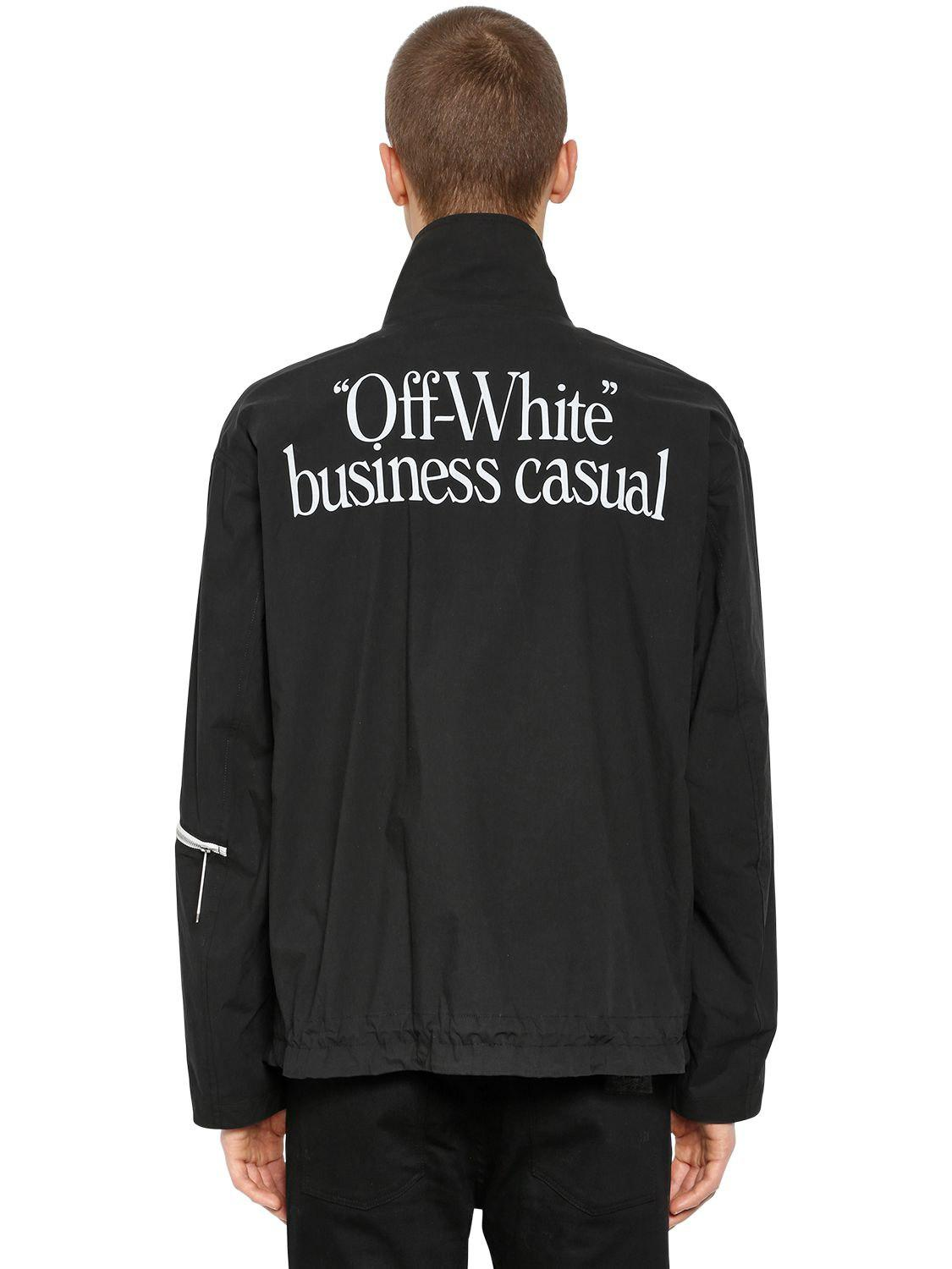 394762bb7b15 Lyst - Off-White c o Virgil Abloh Business Casual Zip Lightweight ...