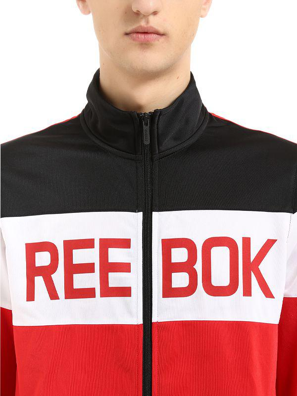 6fa0935c449d Lyst - Reebok Elements Nylon Tracksuit in Red for Men
