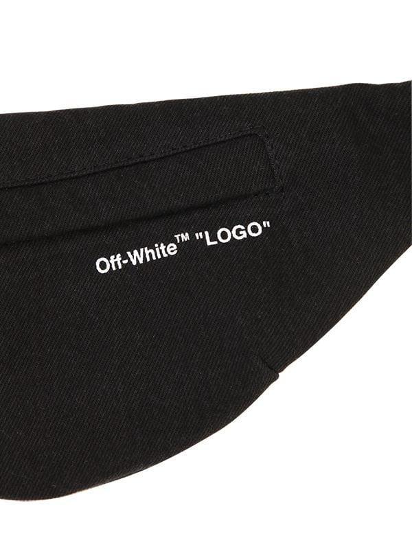 a1978608fcc Lyst - Off-White c o Virgil Abloh Logo Strap Cotton Denim Belt Bag in Black  for Men