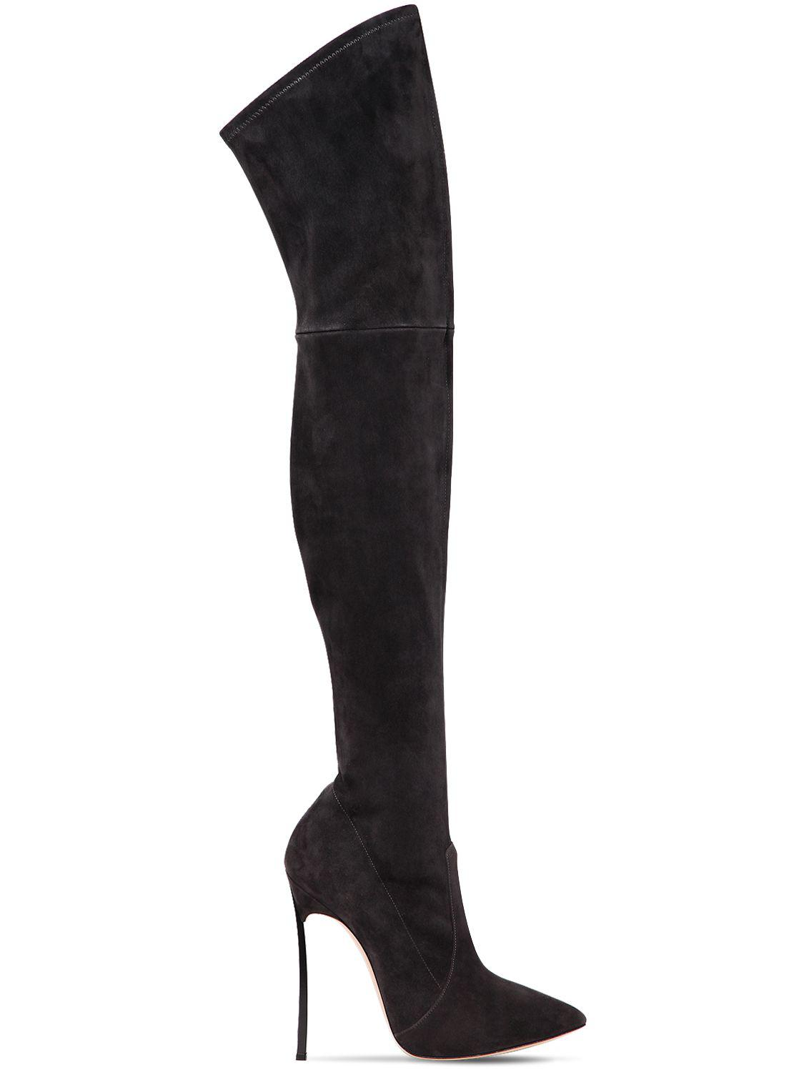 4bc5aafef8a Casadei Over-the-knee Boots in Gray - Lyst