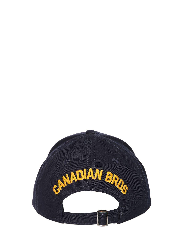 ea2ca61b4 Lyst - DSquared² Baseball Hat W/ Logo Patch in Blue for Men