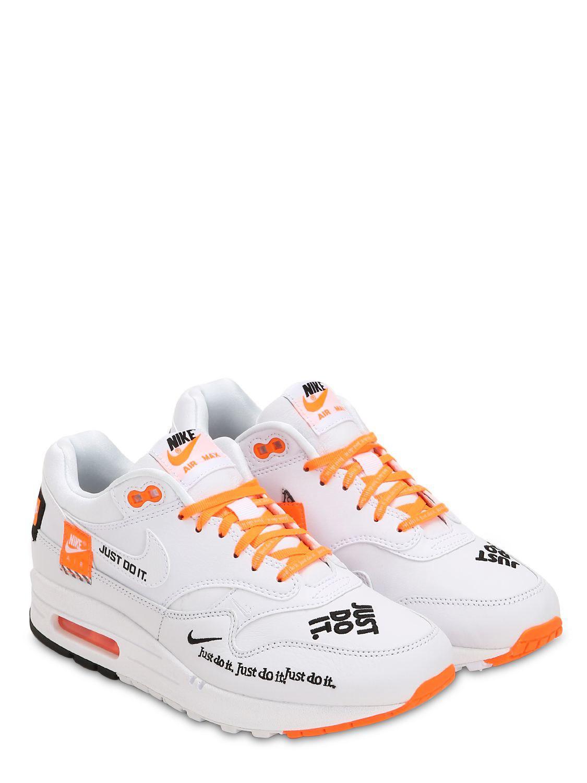 49ea0ed74a8 Lyst - Baskets Air Max 1 Just Do It Nike pour homme en coloris Blanc