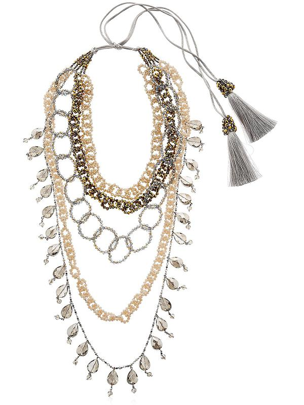 Night Market beaded chain necklace - White 2Azpv